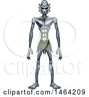 Clipart Of A Standing Creature Or Alien Royalty Free Vector Illustration by Cory Thoman
