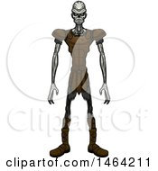 Clipart Of A Standing Draugr Royalty Free Vector Illustration by Cory Thoman