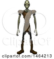 Clipart Of A Standing Goblin Royalty Free Vector Illustration by Cory Thoman