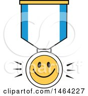 Clipart Of A Smiley Face And Ribbon Royalty Free Vector Illustration