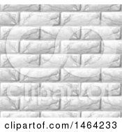 Seamless White Brick Wall Texture Background