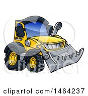 Clipart Of A Bulldozer Machine Royalty Free Vector Illustration by AtStockIllustration
