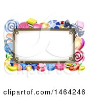 Clipart Of A Sign Or Border Of Candy Royalty Free Vector Illustration