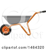 Clipart Of A Wheelbarrow Garden Tool Royalty Free Vector Illustration by Vector Tradition SM