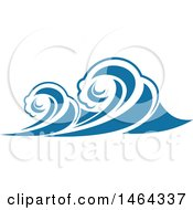 Clipart Of A Blue Splash Ocean Surf Wave Water Design Royalty Free Vector Illustration by Vector Tradition SM