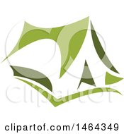 Clipart Of A Green Tent Royalty Free Vector Illustration by Vector Tradition SM