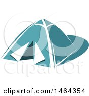 Clipart Of A Teal Tent Royalty Free Vector Illustration by Vector Tradition SM
