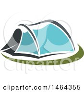 Clipart Of A Blue Tent Royalty Free Vector Illustration by Vector Tradition SM