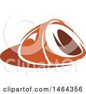 Clipart Of An Orange Tent Royalty Free Vector Illustration by Vector Tradition SM