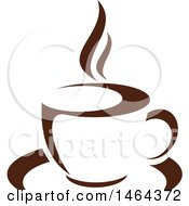 Brown Hot Steamy Cup Of Coffee