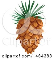 Clipart Of A Pinecone Royalty Free Vector Illustration