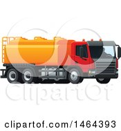 Clipart Of A Tanker Truck Royalty Free Vector Illustration