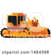 Clipart Of A Bulldozer Royalty Free Vector Illustration by Vector Tradition SM