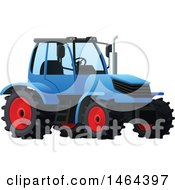Poster, Art Print Of Blue Tractor