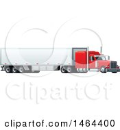Clipart Of A Cargo Truck Royalty Free Vector Illustration