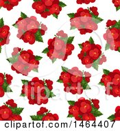Seamless Pattern Background Of Red Flowers
