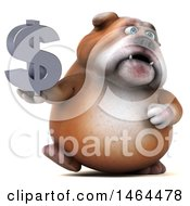 Poster, Art Print Of 3d Bill Bulldog Mascot On A White Background