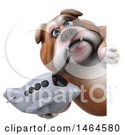 Poster, Art Print Of 3d Bill Bulldog Mascot On A White Background