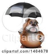 3d Bill Bulldog Mascot On A White Background