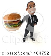 3d Young Black Business Man On A White Background