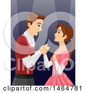 Poster, Art Print Of Man And Woman Acting As A Prince And Princess On Stage