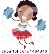 Clipart Of A Happy Energetic Cheerleader Girl Royalty Free Vector Illustration