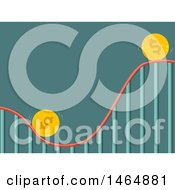 Poster, Art Print Of Roller Coaster Ride With Coins Going Up And Down