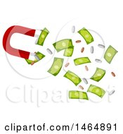Poster, Art Print Of Magnet Attracting Coins And Cash