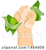 Poster, Art Print Of Fisted Hand Holding Cash Money Tight