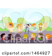 Poster, Art Print Of Group Of School Children Performing An Animal And Insect Play