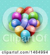 Poster, Art Print Of Group Of 3d Colorful Party Balloons
