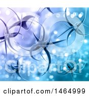 Poster, Art Print Of 3d Background Of Virus Cells On Purple And Blue