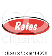 Red Rates Internet Website Button Clipart Illustration by Andy Nortnik