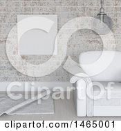 Clipart Of A 3d White Themed Room Royalty Free Illustration