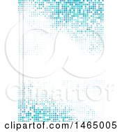 Poster, Art Print Of Blue Pixel Background With Text Space On White
