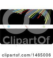 Black And Colorful Lines Business Card Design