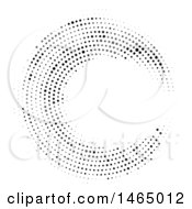 Halftone Circular Design Background