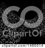 Clipart Of A Halftone Dots Twisting Wave Background Royalty Free Vector Illustration