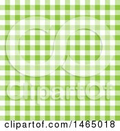 Green Gingham Plaid Background