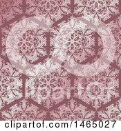 Poster, Art Print Of Beautiful Pink Ornate Floral Damask Pattern