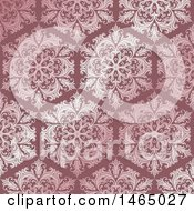 Beautiful Pink Ornate Floral Damask Pattern
