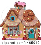 Clipart Of A Hansel And Gretel Gingerbread House Royalty Free Vector Illustration by visekart