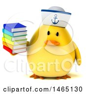 July 28th, 2017: Clipart Of A 3d Chubby Yellow Bird Sailor On A White Background Royalty Free Vector Illustration by Julos