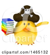 July 28th, 2017: Clipart Of A 3d Chubby Yellow Bird Pirate On A White Background Royalty Free Vector Illustration by Julos