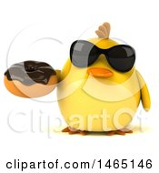 July 28th, 2017: Clipart Of A 3d Chubby Yellow Bird On A White Background Royalty Free Vector Illustration by Julos