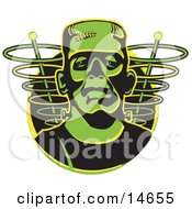 Green Frankenstein Monster Clipart Illustration by Andy Nortnik