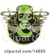 Poster, Art Print Of Green Frankenstein Monster