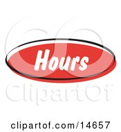 Red Hours Internet Website Button Clipart Illustration by Andy Nortnik