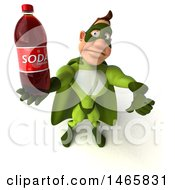 July 28th, 2017: Clipart Of A 3d Buff White Male Green Super Hero On A White Background Royalty Free Illustration by Julos