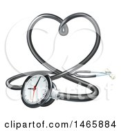 3d Medical Stethoscope Forming A Love Heart